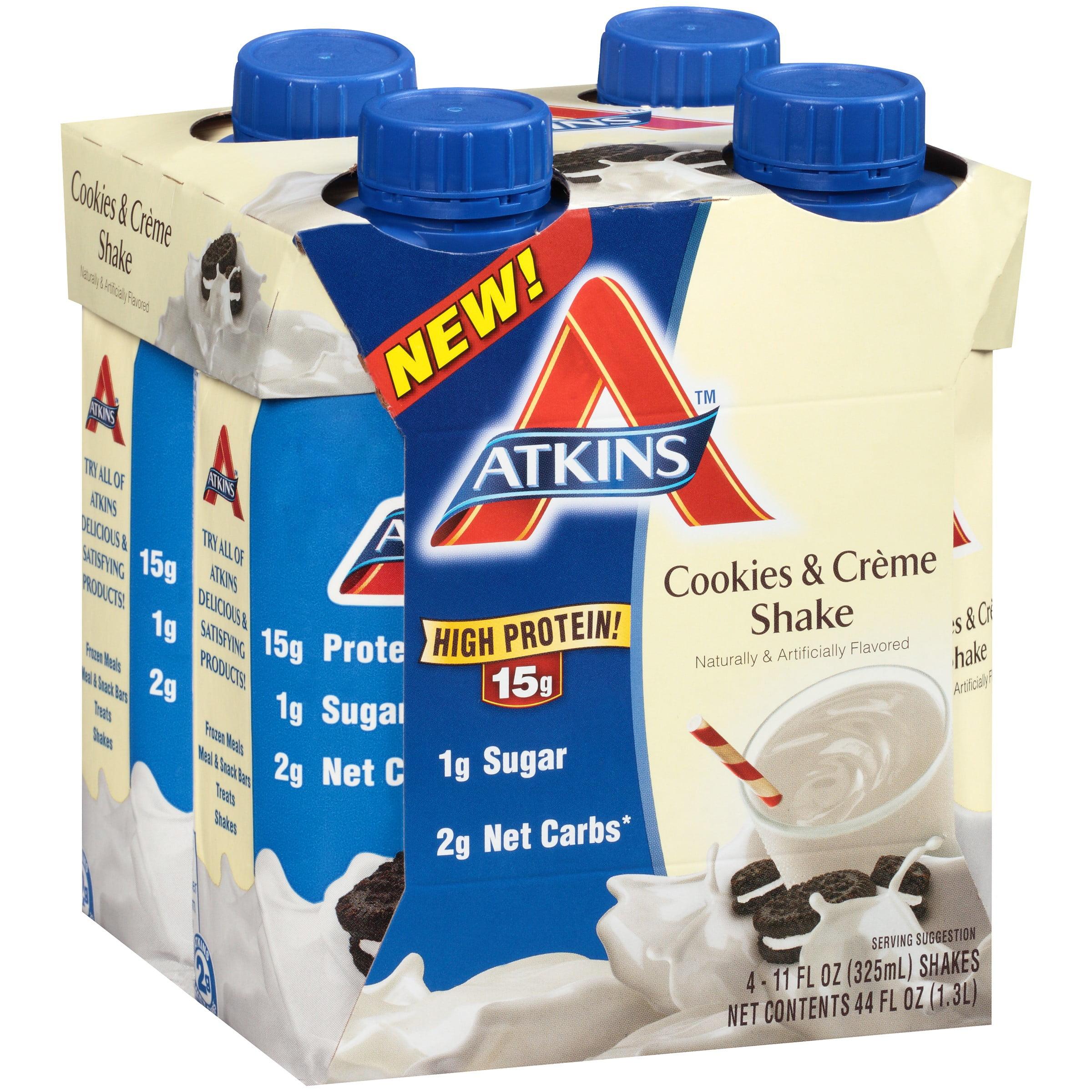 Atkins Cookies & Cream Shakes, 11 Fl oz, 4 Ct