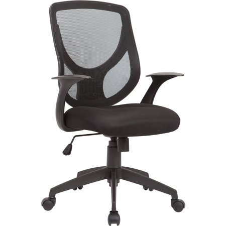 AC Pacific Adjustable Swivel Office Chair Mesh Seat and Back, Black ()