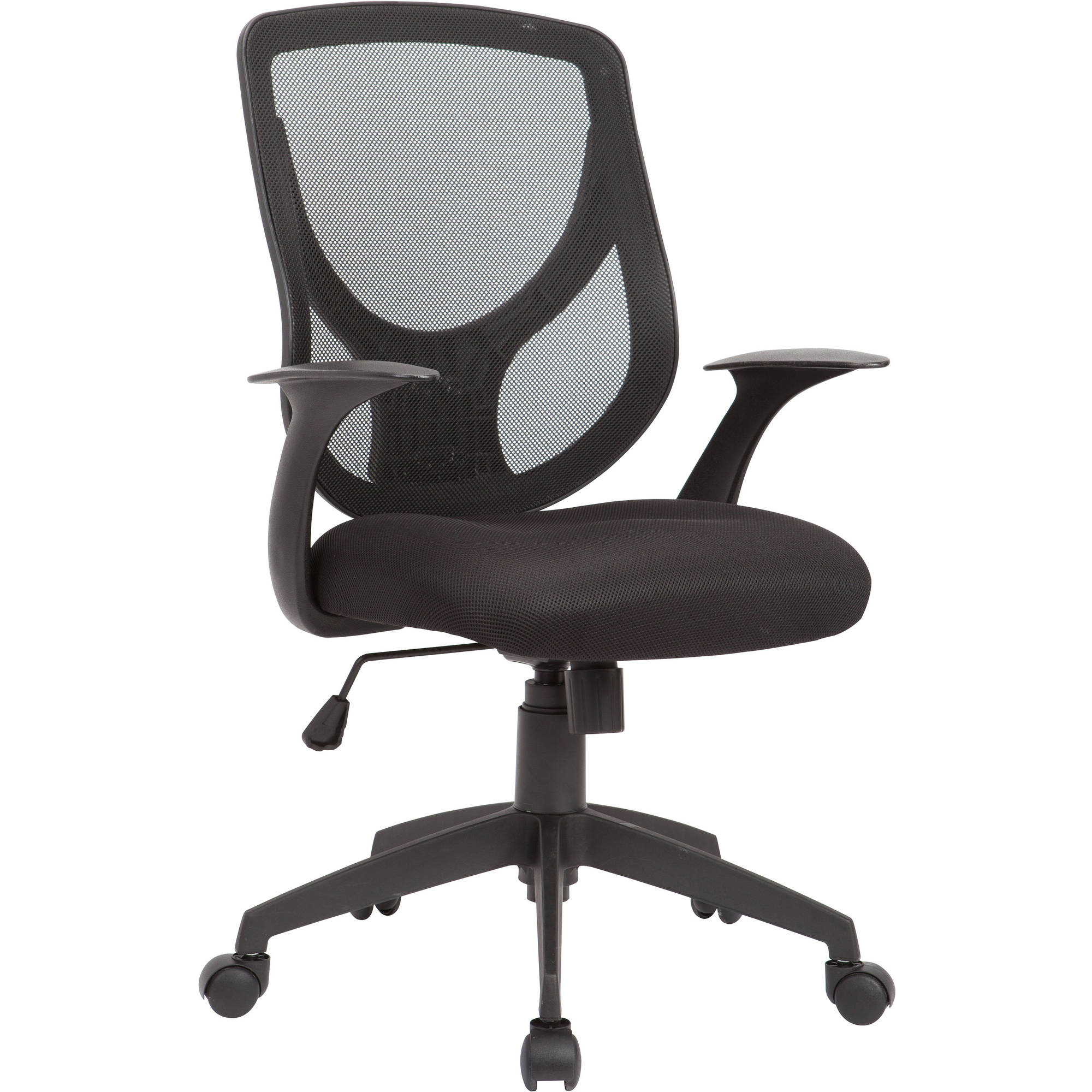 AC Pacific Adjustable Swivel Office Chair Mesh Seat And Back, Black