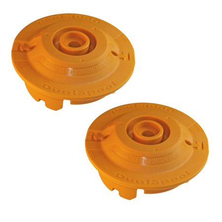 Dual Line Trimmer Head - Ryobi RY26500 Trimmer (2 Pack) Replacement Dual Spool Fixed Line String Head Insert # 310734001-2PK