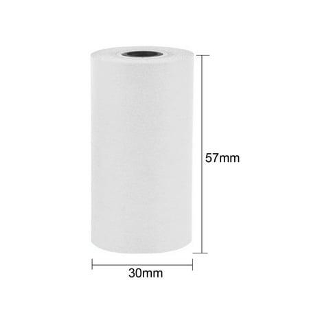 CNMODLE 1 Roll Coreless Heat-sensitive Paper Canvas Mobile Pos Machine  Paper 57x30mm Cash Register Paper Small Ticket Roll Paper