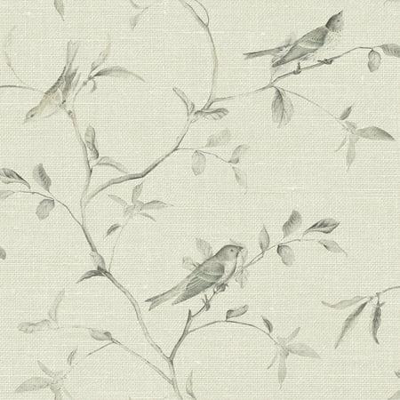 Patina Vie Birds of a Feather Wallpaper - Khaki