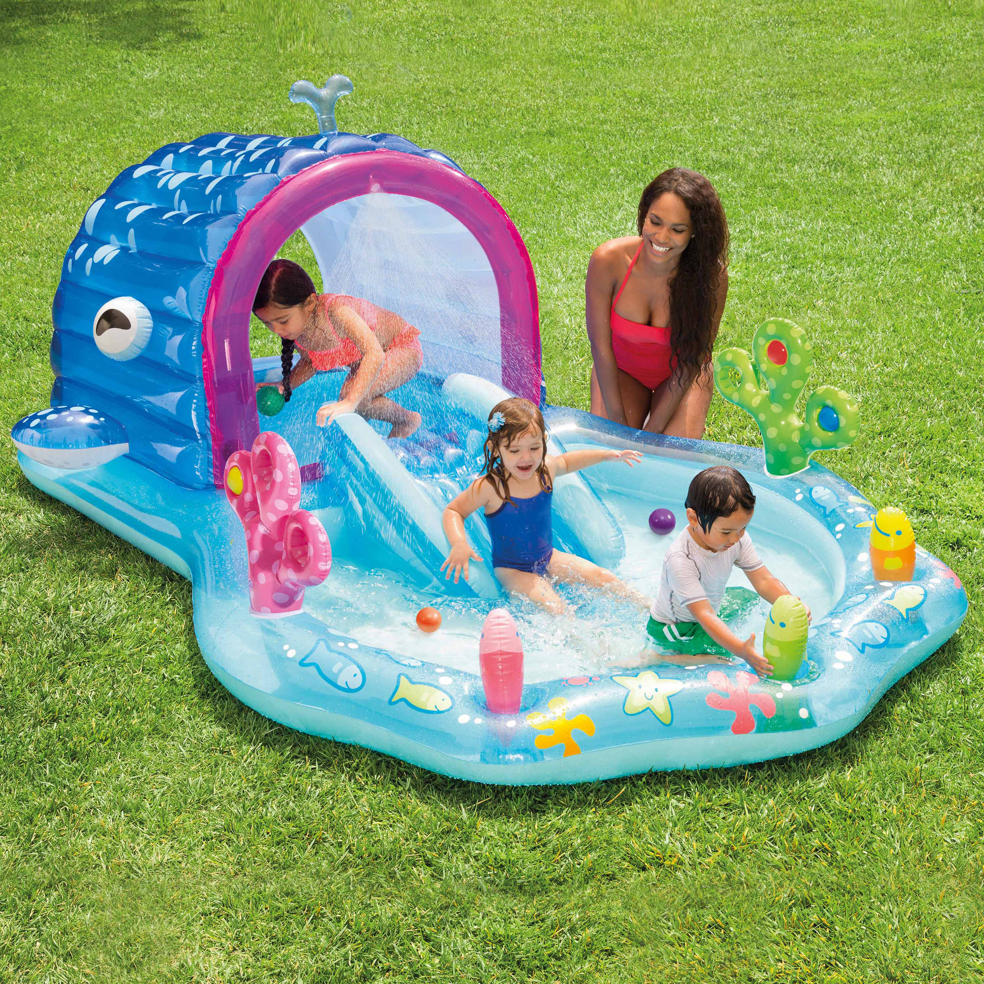 Intex Inflatable Whale Play Center with Sprayer Walmart