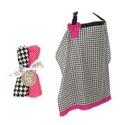 Trend Lab  5-piece Nursing Cover and Burp Cloth Set in Serena
