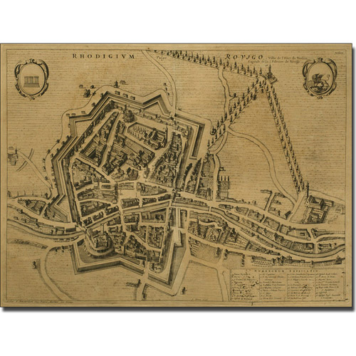 Trademark Art 'Map of Rovigo, 1704' Canvas Art by Pierre Mortier