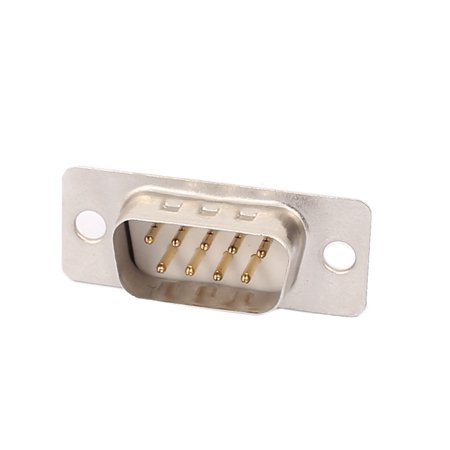 D-SUB DB9 2Rows 9Pin RS232 Male Solder Type Adapter Connector Straight