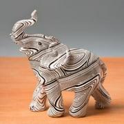 Small Geometric spiral swirl design standing elephant  pack of 40