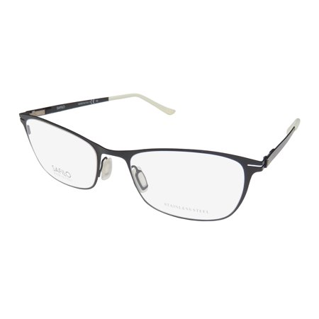 New Safilo 6051 Womens/Ladies Designer Full-Rim Semi Matte Black Premium Segment Beautiful Collectible Hot Frame Demo Lenses 52-18-140 Eyeglasses/Eyewear