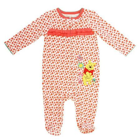 Winnie the Pooh Newborn Baby Girl Ruffle Detail Sleep n Play