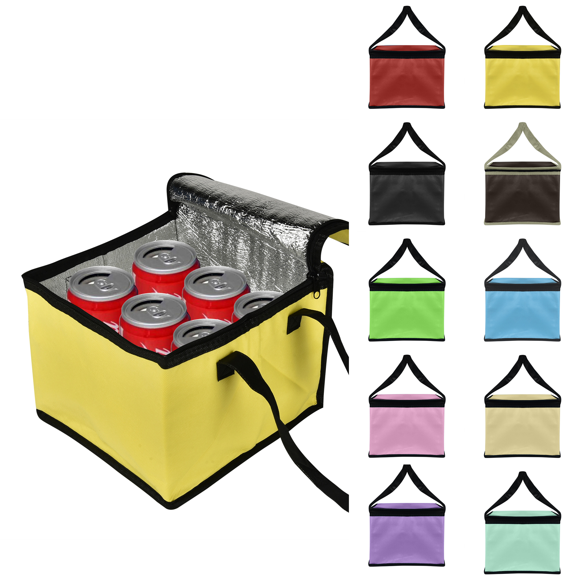 CUH Portable Cool Bag Insulated Cooler Food Can Drink Lunch Picnic Hiking 21L /12.5L