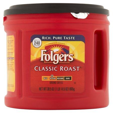Folgers One Cup Coffee Maker : Folgers Classic Roast Medium Ground Coffee, 30.5 oz - Best Ground Coffee