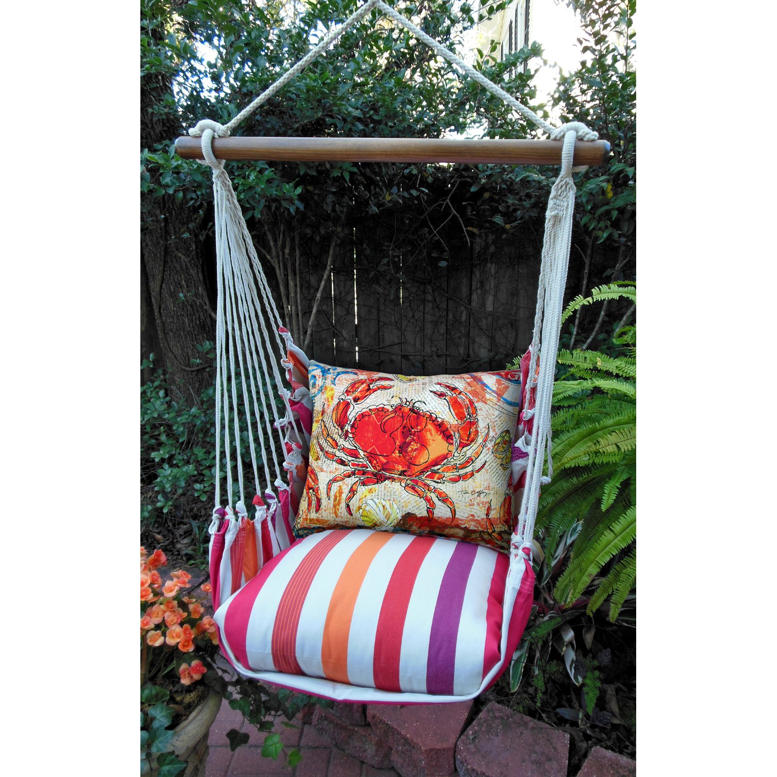 Magnolia Casual Crabby Hammock Chair & Pillow Set