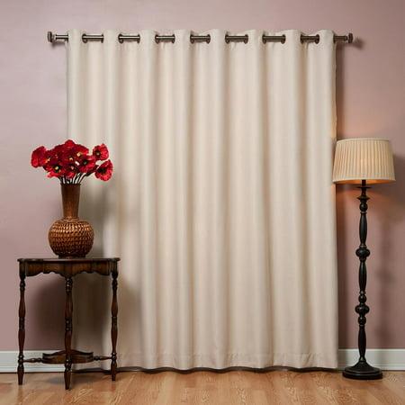 "Quality Home Wide Basic Bronze Grommet Blackout Curtain - BEIGE - 100""W x 108""L (Single Panel)"
