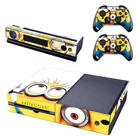 Minions Xbox One Console SKIN + 2 x Controller Stickers Decal FacePlate -