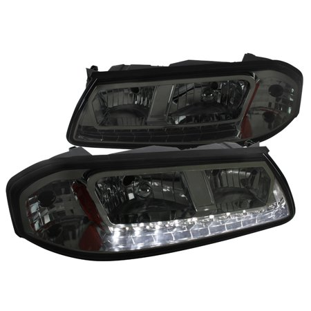 Spec D Tuning 2000 2005 Chevy Impala Smoke Lens Crystal Led Headlights Pair 00 01 02 03 04 05 Left Right