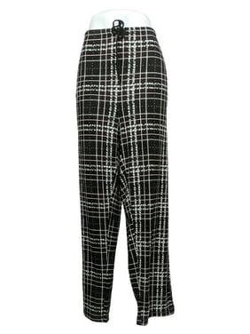 Carole Hochman Women's Plus Sz 1X Dottie Plaid Jersey Pajama Black A368287