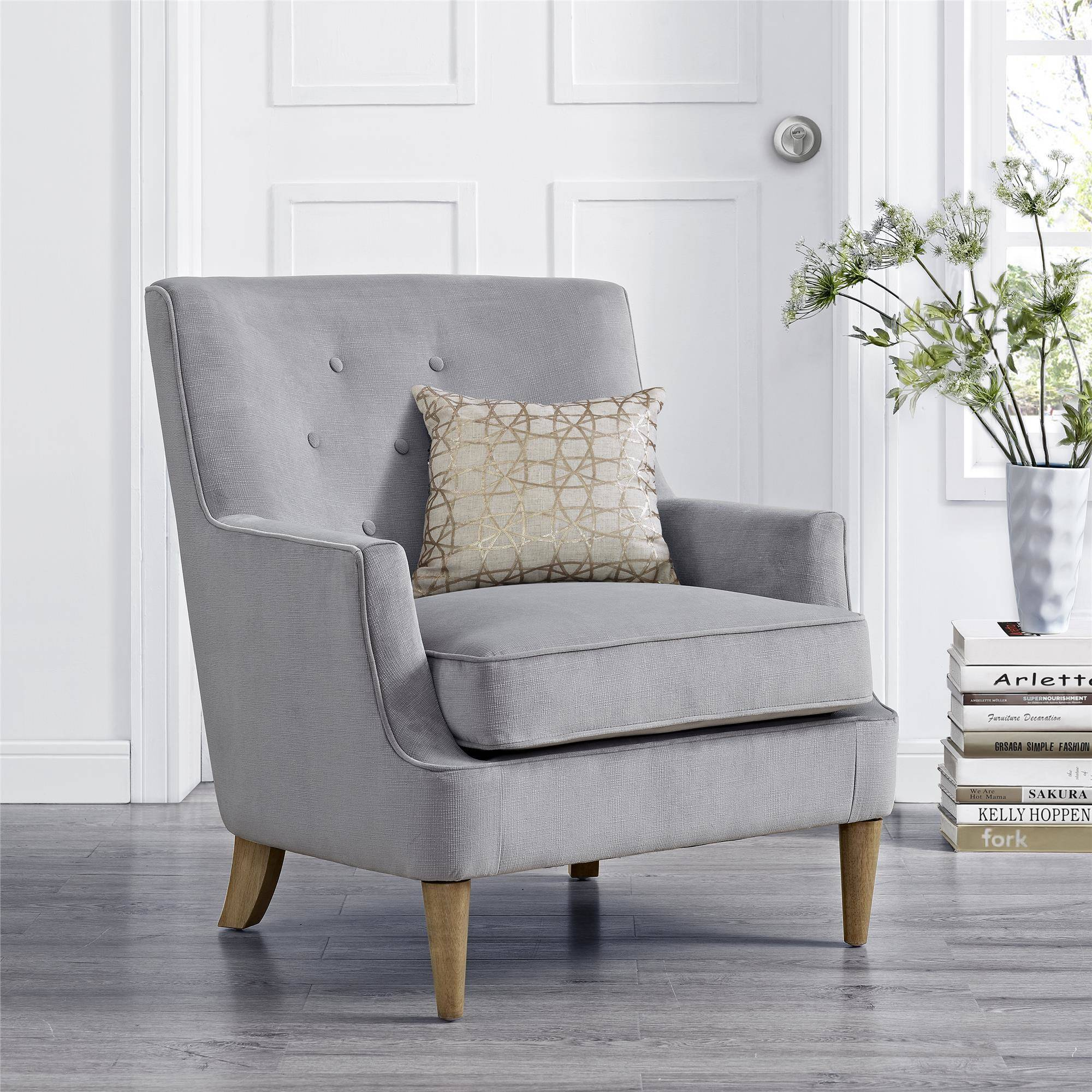 Sofa Mart Accent Chairs: Mainstays Accent Chair, Gray