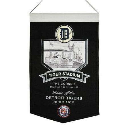 Detroit Tigers Wool Stadium Banner - Tiger Stadium