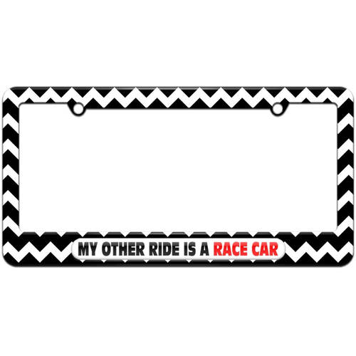 My Other Ride Is A Race Car License Plate Tag Frame, Multiple Colors