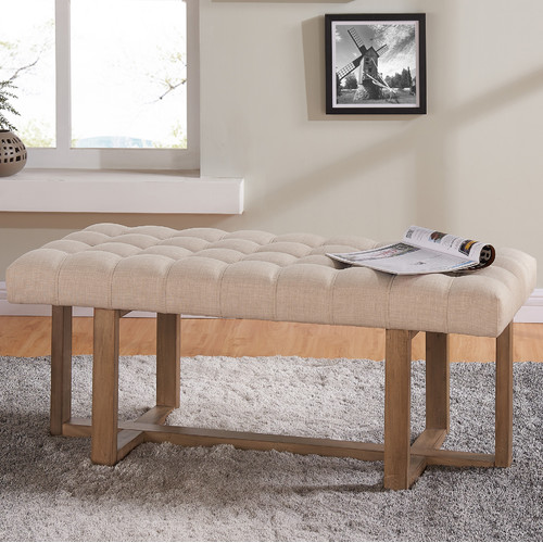 One Allium Way Bissell Upholstered Bench