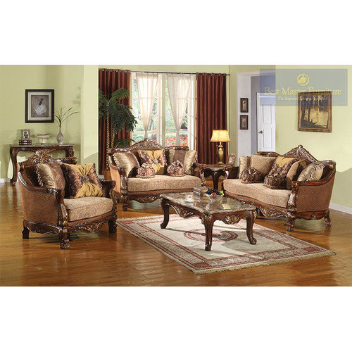 BestMasterFurniture 2 Piece Traditional Sofa and Chair Set Walmart