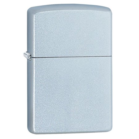 ZIPPO SATIN CHROME LIGHTER Chrome Chrome Zippo Lighter