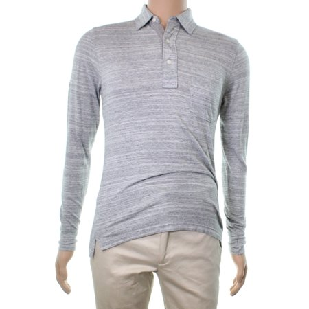 Cotton Hooded Rugby (Faherty Brand Heather Stripe Mens Polo Rugby)
