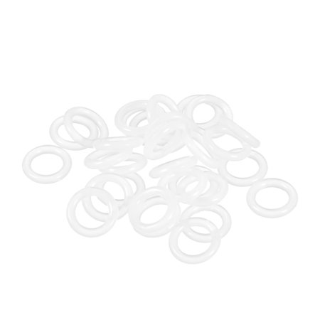 Silicone O-Rings, 7mm Inner Diameter, 11mm OD, 2mm Width Seal Gasket 30pcs 3m Super Silicone Seal