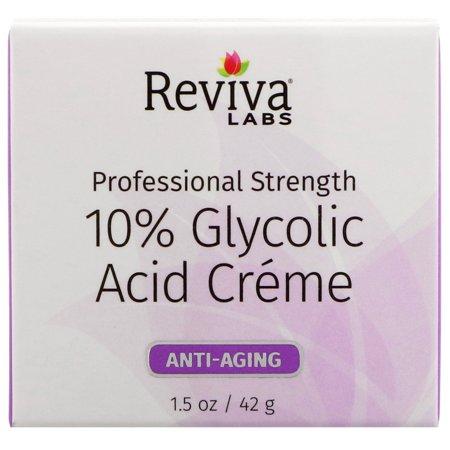 Reviva Labs  10  Glycolic Acid Cream  1 5 Oz Pack Of 3