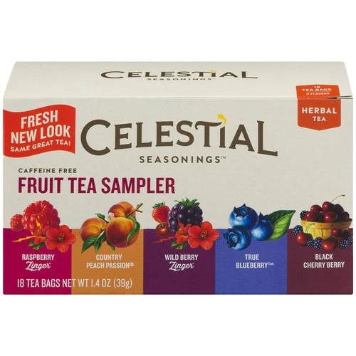 Celestial Seasonings 5 Flavors Fruit Tea Sampler Herbal Tea, 18ct