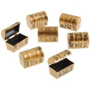 Dozen Mini Pirate Gold Treasure Chests