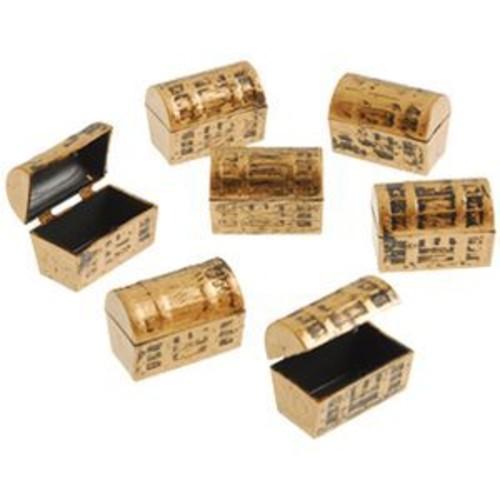 Dozen Mini Pirate Gold Treasure Chests
