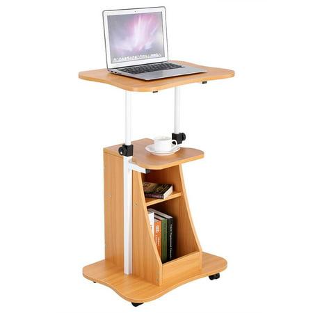 Tbest Height Adjustable Laptop Cart Standing Notebook Desk