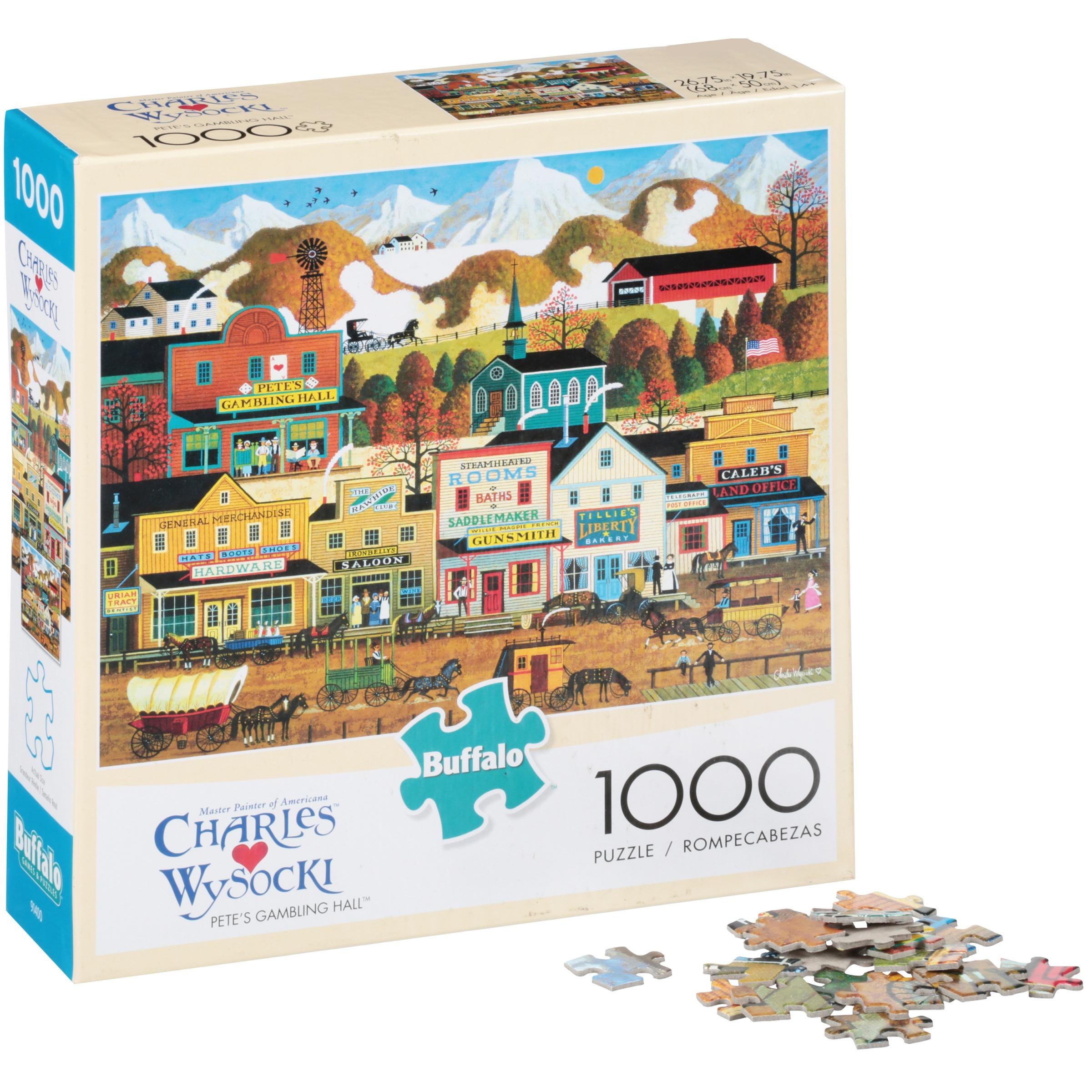 Buffalo™ Charles Wysocki Pete's Gambling Hall™ 1000 pc Puzzle