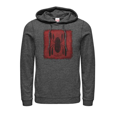 Spiderman Hoodie Mens (Marvel Men's Spider-Man Homecoming Logo Patch)