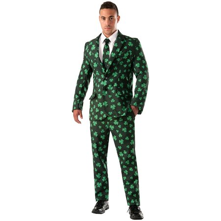 Shamrock Suit & Tie Adult Costume - Shamrock Costume