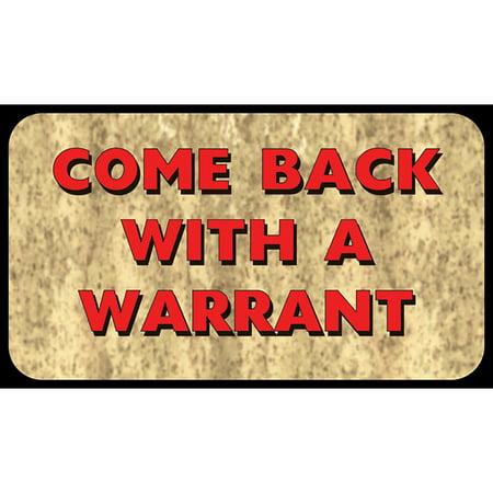 River's Edge Come Back With Warrant Door (Edge Door Mat)