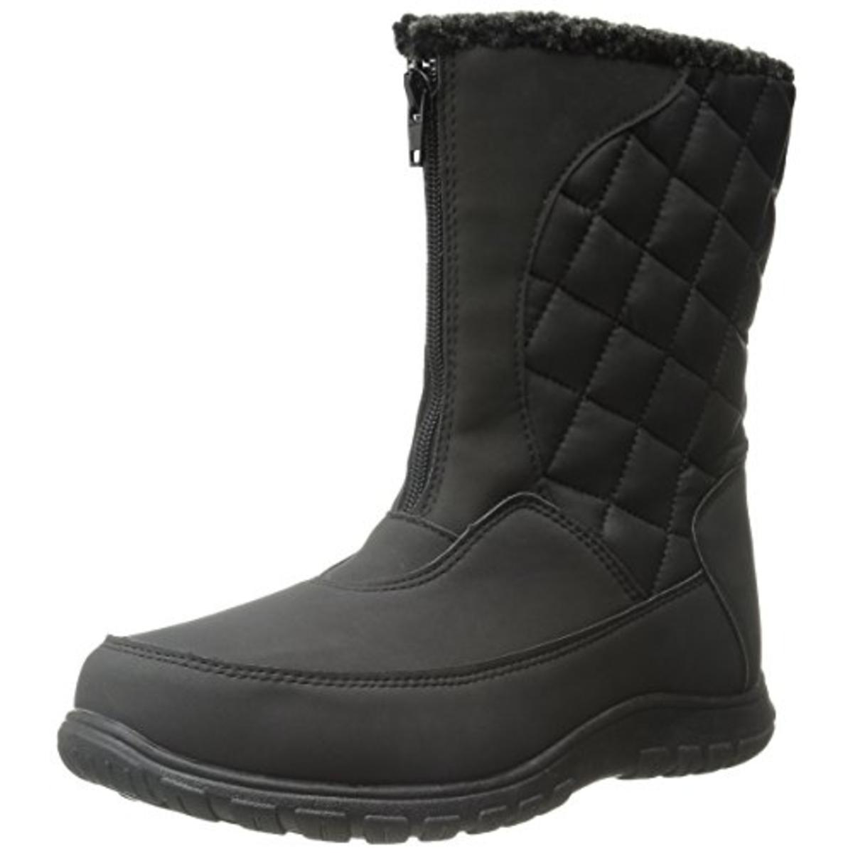 Totes Womens Amanda Faux Leather Waterproof Winter Boots