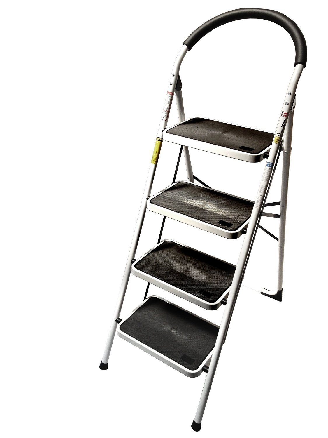 Lavohome 330lbs Upper Reach Reinforced Metal Folding Step Ladder Stool Household Kitchen Use Four Com