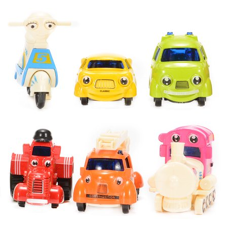 Take Along Diecast Metal (1/64 Scale Mini Cartoon Diecast Metal Sliding Cars Vehicle Playset (6 Pieces) )