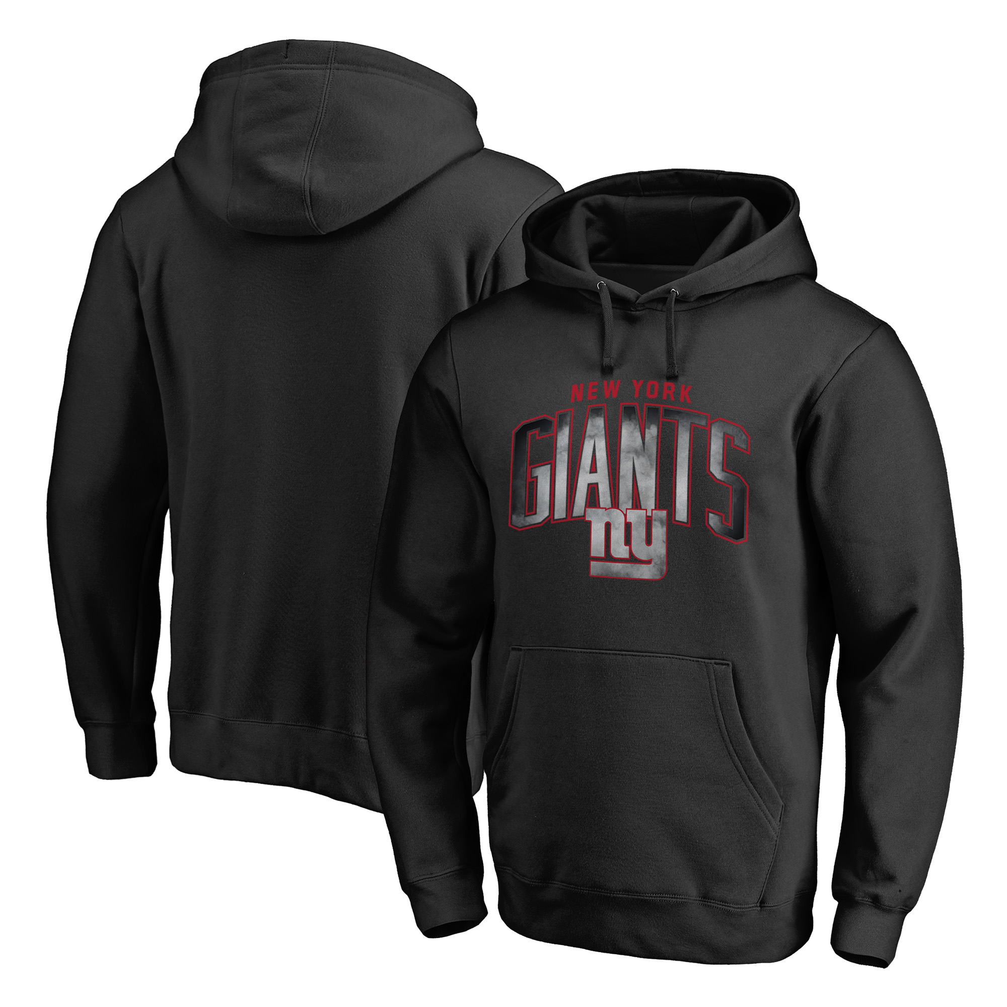 New York Giants NFL Pro Line by Fanatics Branded Big & Tall Arch Smoke Pullover Hoodie - Black