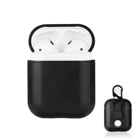 Compatible with AirPods Case, Leather Case Cover, 360°Protective with Keychain, Support Wireless Charging, Earphones Accessories Compatible with AirPods 2 & 1