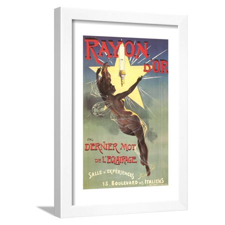 Ad Canvas Frame - Ad for Rayon D'Or Lighting Framed Print Wall Art