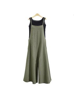 New Fashion Summer Ladies Casual Jumpsuit Long Suspender Overalls Bib Pants