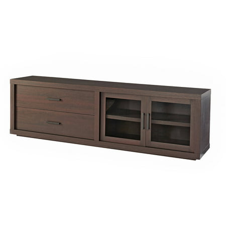 """Better Homes & Gardens Steele TV Stand for TV's up to 80"""", Espresso"""