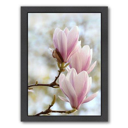 East Urban Home Magnolia Flower Bloom Framed Photographic Print
