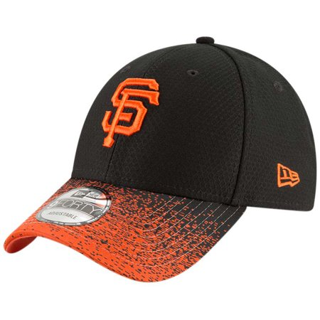 - San Francisco Giants New Era Visor Blur 9FORTY Adjustable Hat - Black - OSFA