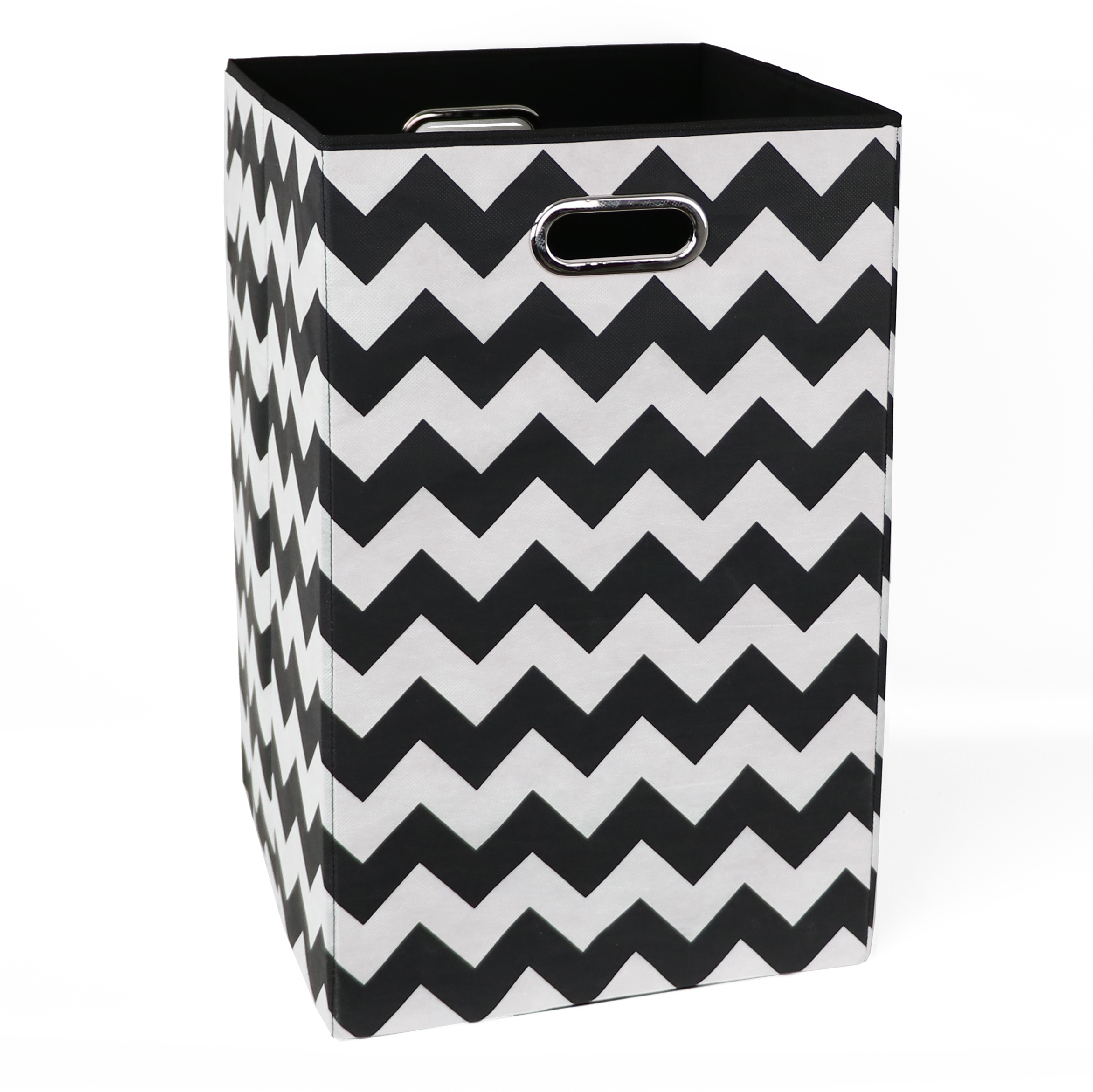 Modern Littles Black Chevron Folding Laundry Bin