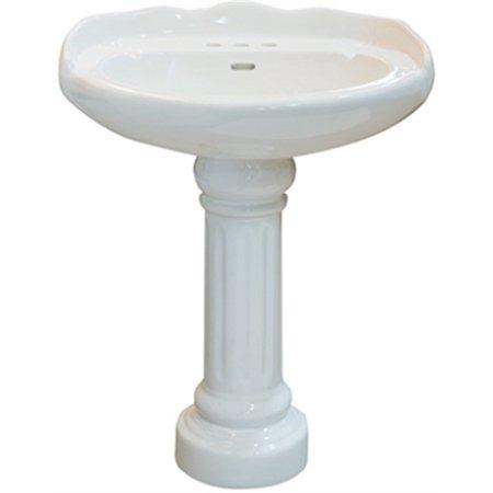 Part Jd10-R2622W Basin Chesapeake Pedestal Wht, by Compass, Single Item, Great V