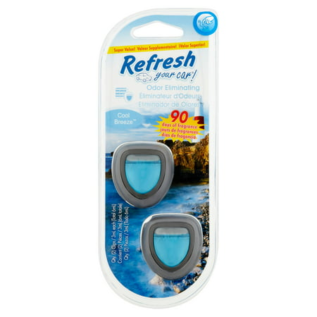 Refresh Your Car Cool Breeze Odor Eliminating Super Value  2 X 3Ml  6Ml